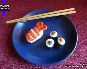 Sushi Maki  - Nigiri - amigurumi - keychain