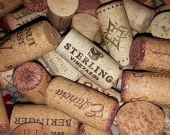 100 approx Bottle CORKS wine BUNDLE of All-Natural 100% Used Wine Corks - used RED wine cork - no synthetic corks - project cork, all corks