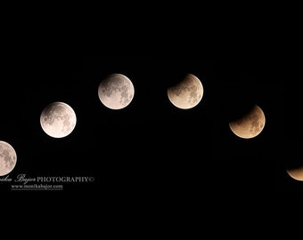 Blood Moon Eclipse Photography, Supermoon Photo, Astro Photography, Fine Art Photography,
