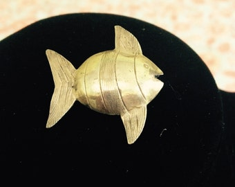 Silver Fish Figural Pin