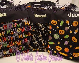 Halloween Trick or Treat Bag Tote