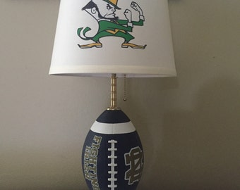 Notre Dame football Lamp. NCAA SPORTS TEAM.