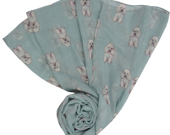 Poodle Scarves in a variety of colours
