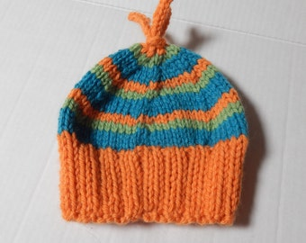 CLEARANCE SALE! Baby Boy Hat (medium), Knitted Baby Hat, Wool Hat, Hand Knit Baby Hat, Winter Hat