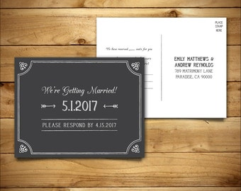 RSVP - DIY Wedding Template - RSVP Postcard Template - Rustic Wedding - Printable Wedding - Instant Download - Hyacinth Collection