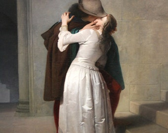 Francesco Hayez: The Kiss. Fine Art Print/Poster. (003420)
