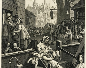 William Hogarth: Gin Lane. Fine Art Print/Poster (00231)