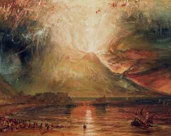 William Turner: Mount Vesuvius in Eruption. Fine Art Print/Poster. (003633)