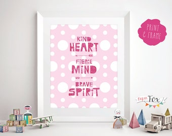 Art for Girls Room, Kids Wall Art, Nursery Wall Art, Print for Girls Room, Quote Poster, Wall Art for Girls Room, Printable Instant Download