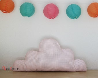 Pad cloud white polka dots and pink