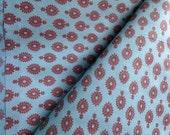 Seconds Sale : Organic Cotton Fabric, Folk Tribal Print, Boho Fabric ,Indigo Purple, Herbal Dyed, Cambric Cotton,  2.25 yards, FABRIC FADING