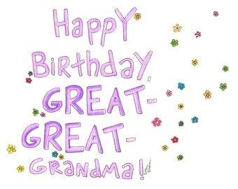 grandma card  etsy, Birthday card