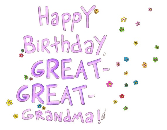 items similar to happy birthday great greatgrandma card