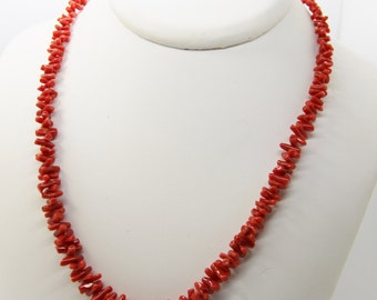 Necklace with red coral of Corsica first choice certified cc 50