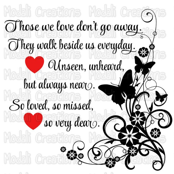 Download Those we love don't go away SVG
