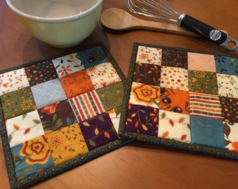 Quilted Pot Holders / Pot Holders / Hot Pads  / Item #1291