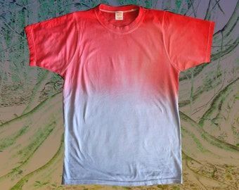 Ombre dip dye t-shirt Red to Blue S M L XL