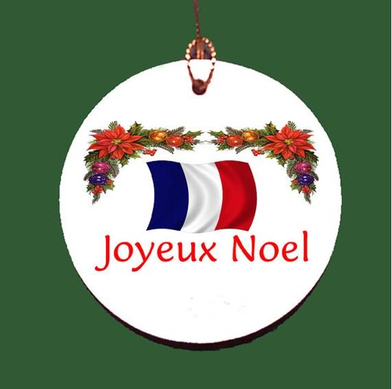 french joyeux noel porcelain christmas ornament. Black Bedroom Furniture Sets. Home Design Ideas