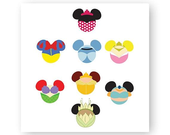 Disney Princess Icon Minnie Mouse Head Icon Mickey