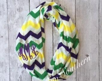 Mardi Gras Chevron InfinityScarf