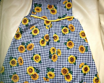 Sunflower Reversible Baby Girl Jumper Dress - Size: 18 months