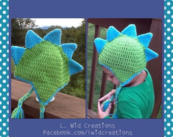 Crochet Dinosaur Beanie-FREE SHIPPING
