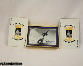 """Vintage """"Chance Vought Aircraft"""" Playing Cards!"""