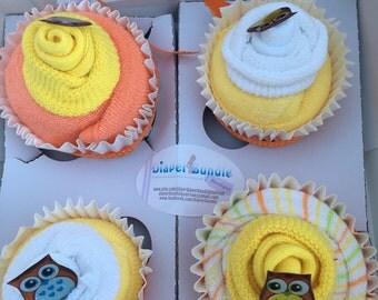 Diaper Cupcakes - Set of 4