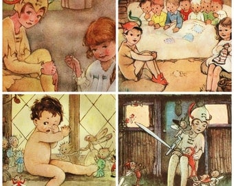 Vintage Peter Pan print  from1973 -  illustrated by Mabel Lucie Attwell gorgeous nostalgic artwork choose your picture