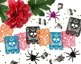Day of the Dead Decoration, Fiesta Banner, Ofrenda, Altar, Dia de los Muertos, Papel Picado Banner, Sugar Skull Banner