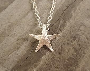 Micro Starfish Necklace