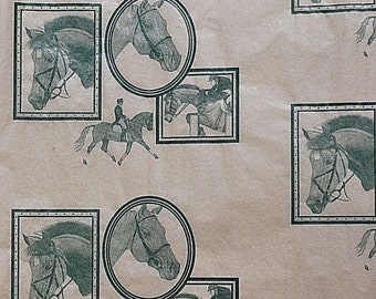 "Horse 205 - Tissue Paper / Gift Paper - Hunter, Jumper, Dressage, English  .... 10 Large Sheets .... 20"" x 30"" ..."