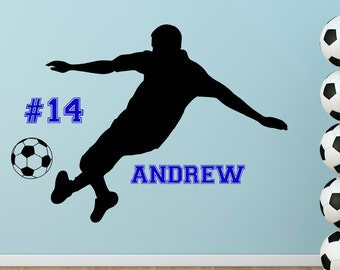 Personalized Soccer Girl Vinyl Wall Decal With Name Soccer - Custom vinyl wall decal equipment