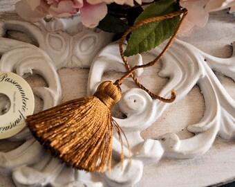 Pompom in pure silk, French braid, vintage, 50 mm