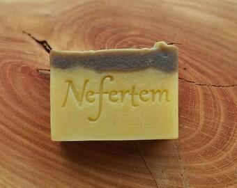 PURE NATURAL SOAP - Grass Fed Tallow Soap - botanical soap - luxurious soap bar - lemongrass - vetiver - creamy butter soap - grass fed 4oz