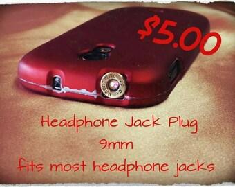 9mm headphone jack plug bullet jewelry