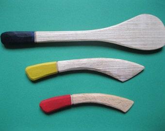 Wooden Spatulas and Spreaders