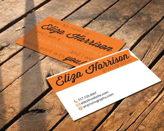 "Custom Business Card -  ""The Eliza"" - DIY Printable - Digital Download"