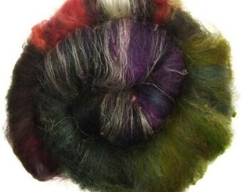 Luxury Fiber Batt No. 12 handcareded fibers for spinning or felting #16646