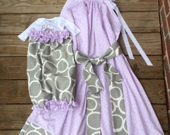 Matching Maternity hospital gowns for sale