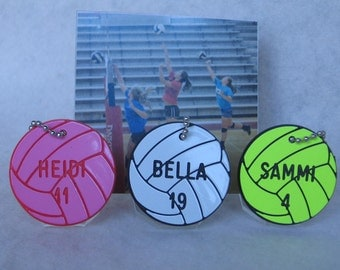 Personalized Volleyball Gifts  /  Volleyball Bag Tags  /  Volleyball Team Gifts
