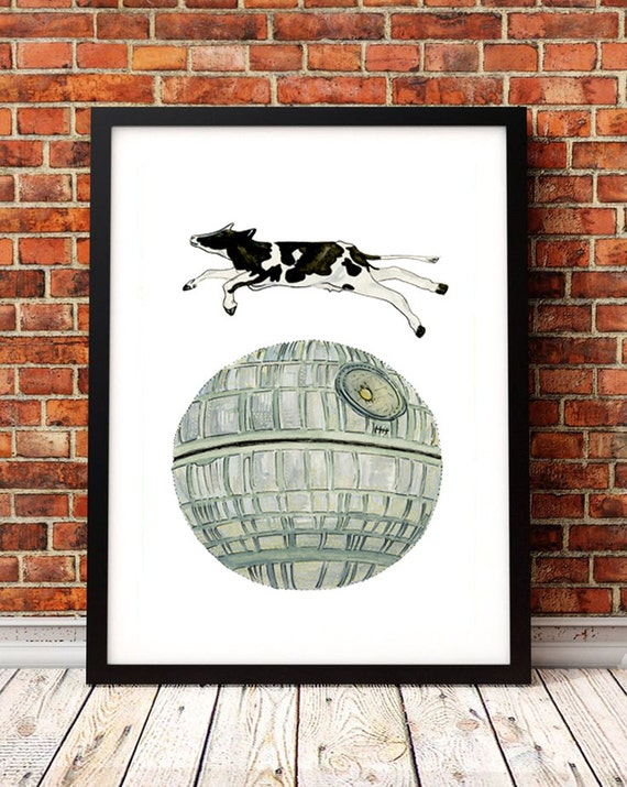 Star wars death star child bedroom wall decor by for Death star wall mural