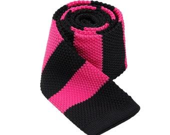 Black And Peach Stripes Neckties.Wedding Ties.Mens Ties.Groomsmen Neckties.Party Ties