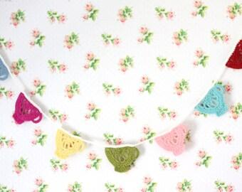 Crochet Tea Cup Bunting, Crochet Tea cup Garland, Tea Party Decor, Crochet Tea cup
