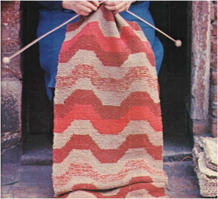 Vintage Effect Rug: Rug Pattern Runner Pattern Vintage 70s Mat Scatter Area Rug