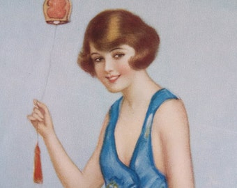 1920's Flapper boudoir print, love note on the back