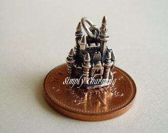 Sterling Silver Mouse In Fairytale Castle Charm