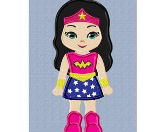 Applique Machine Embroidery Design NO. 89.....Wonder Woman