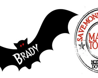 Halloween Bat Personalized Iron On Transfer