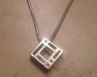 Sterling Silver Necklace Carrick CJL Pendant 925